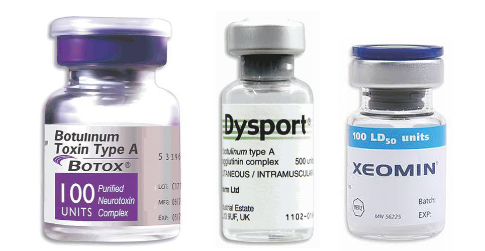 Botox, Dysport and Xeomin